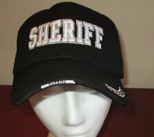 NEW Black Sheriff Adjustable Hat Police