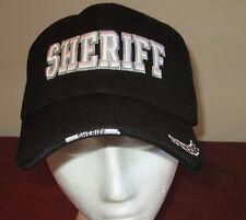 NEW Black Sheriff Adjustable Hat Police