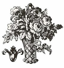 Toile Baskets & Fleur de lis Anna Griffin Black White 25 Wallies Wall Stickers