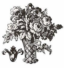 Toile Baskets & Fleur de lis Anna Griffin Black White 25 Wallies Wall Stickers