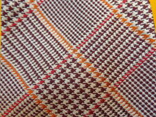 BROOKS BROTHERS ~ ORANGE RED GLEN PLAID ~ MENS SILK SUIT TIE ~ XL LONG TALL 60""