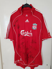 Official home shirt Liverpool FC 2007/08 team Signed by 23 players Gerrard Kuyt