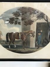 """Thomas Gooch """"THE COLT IN BREAKING, RACEHORSE AFTER RUNNING """"Framed Horse Print"""