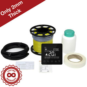 CU Heating Electric Underfloor Heating Loose Cable Kit *All Sizes* w/ Thermostat