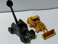 Figurine Decor Solid Metal Miniature(Mangonel catapult / Hatra Tractor Shovel)