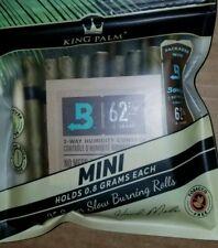 25 x King Palm Natural Leaf Wraps (MINI) Size (1 Pack 25 Rolls)