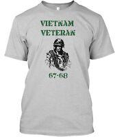 7 Days Only Vietnam Veteran 67-68 Hanes Tagless Tee T-Shirt