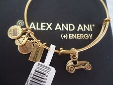 Alex and Ani MONOPOLY CAR Russian Gold Charm Bangle  New W/ Tag Card & Box