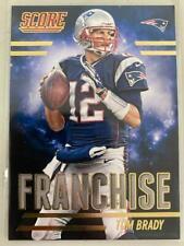 Tom Brady 2014 Score Franchise Gold Card New England Patriots Buccaneers C13