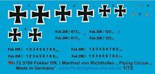 """Peddinghaus-decals 1/72 3709 Fokker Dr.I Manfred Von Richthofen """" Flying Circus"""