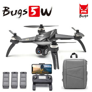 MJX Bugs 5W RC Drone 4K HD Camera 5G Wifi Brushless RC Quadcopter 1 2 3 Battery