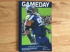 SEAHAWKS GAMEDAY PROGRAM: PANTHERS VS. SEAHAWKS - OCTOBER 18, 2015