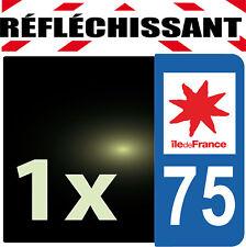 DEPARTEMENT 75 réfléchissant Plaque Auto 1 sticker autocollant reflectif PARIS