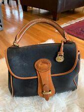 Vtg. Dooney Bourke Pebbled Leather Doctor satchel bag one handle flap closure