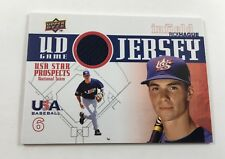 2009 Upper Deck Rick Hague USA Star Prospects UD Game Jersey Relic AR14