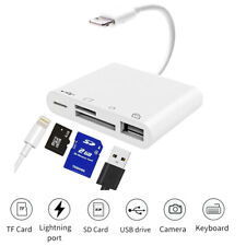 Lightning to USB Camera Adapter Micro SD Card Reader USB 3.0 OTG Cable iPhone 8