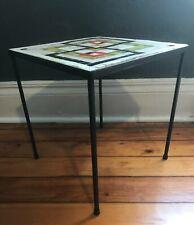 Mid century Tile and Painted Steel Drinks Table ISO Paul McCobb