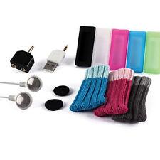 IPOD SHUFFLE 3 3G 3RD GEN *BUNDLE 11 ITEMS* EARPHONES CASE SOCK SKIN USB CHARGER