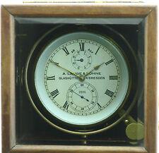 A. Lange & Söhne Marine Chronometer Schiffschronometer Auf- Ab Anzeige 56h Gang.