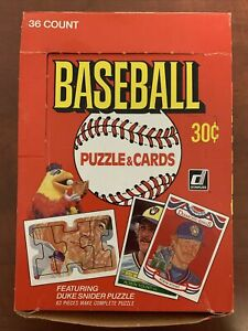 1984 DONRUSS Baseball Card WAX BOX 36 Sealed Unopened Packs