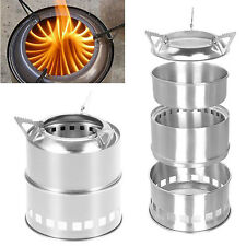 Outdoor Camping Cooking Picnic Stove BBQ Stainless steel Detachable Burner Stove