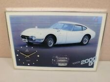 "TOYOTA 2000GT AUTHENTIC POSTER CLOCK ""QUARTZ"" WATCH , Collectable must have"