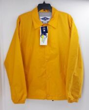 LAL Yellow Nylon Snap Front Rain,  Windbreaker Jacket.  Size Medium