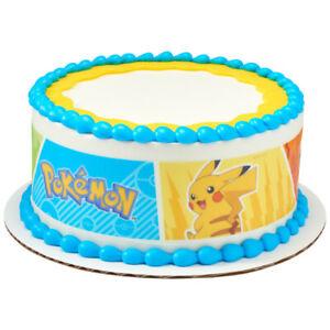 Pokemon Pikachu Edible Cake Border Decoration- Set of 3 Strips