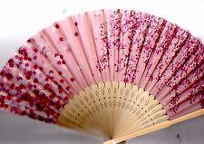 Japanese SENSU(Folding fan)   Weeping cherry tree pattern Cloth type 21cm