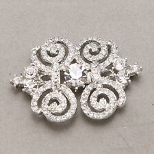 Vintage Style Rhinestone Crystal Wedding Silver Sweater Hook And Eye Clasp