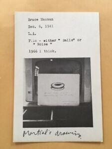 BRUCE NAUMAN card 1969 Lucy Lippard 557,087 exhibit seattle vancouver
