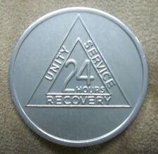 Recovery coins AA Aluminum Medallion token sobriety affirmation Think Before...