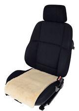Autositzauflage Premium Sitzfläche Lammfell Sekt - Breite 36 cm Universell