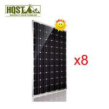 2KW 24V Solar Panel Mono 8 Pcs 250 Watts 24 Volts RV Boat Off Grid 1000W 2000W