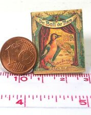 1107# Miniatur Kinderbuch - Ball der Tiere - Puppenhaus - Puppenstube - M 1zu12
