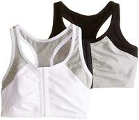 Fruit of the Loom Women's Front Close Racerback (Pack of 2),, Grey, Size 42 ayzE