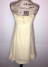 CO OP barneys Fit & Flare Button Dress Size S Yellow