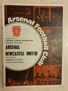 1970/71 Football League Arsenal v Newcastle United, 17th April