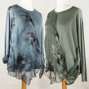 Floral Drape Fine Knit Top with Floral Silky Swathe from Timeless Season