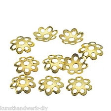 KUS 1000 Vergoldet Blumen Perlen Beads Ende Kappen