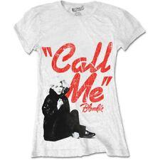 Rockoff Trade Blondie Women's Call Me T-shirt, White, Medium - Womens White