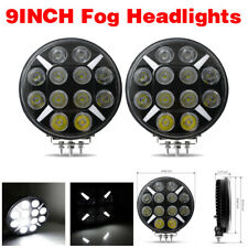 2x 9inch 120W LED Work Light Round Spot Fog Headlight Driving Offroad DRL Lamp