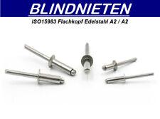 Großkopf Blindnieten 3,2x12 Kopf 9,5mm Alu//Stahl 100 Stk