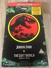 Jurassic Park &The Lost World VHS Video WIDESCREEN Box Set