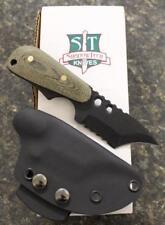 Shadow Tech STBUWIBSBM Backup Wicked Grind Serrated Knife Black Micarta Scales
