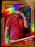🔥 Mike Trout 2021 Donruss Photo Image Variation Holo ORANGE HOLO SP Angels 🔥