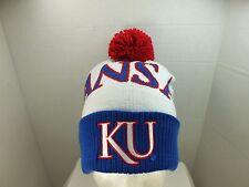 KANSAS JAYHAWKS NCAA TOQUE  KNIT Beanie With Pom top Hat Cap NEW