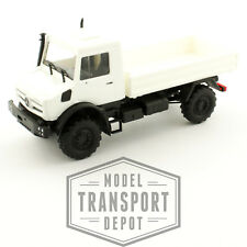 Busch 51001 Mercedes Benz Unimog U5023 White Pickup Bed Truck 1:87 Scale Model