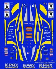 "#9 or #6 McLaren MP4-12c GT3 ""K-PAX"" 2014 1/24th - 1/25th Scale Decals"