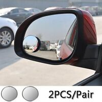 1Pair Auto Car Rear View Mirror 360° Wide Angle Convex Blind Spot Adjustable